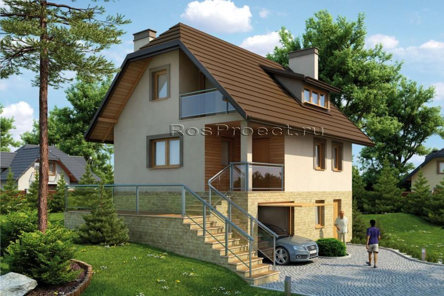 проверить статус проект дома с цокалем и гаражом менгиры